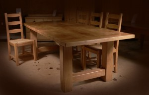 Country Square Oak Table