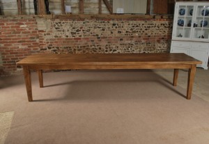 Long Solid Oak Dining Table