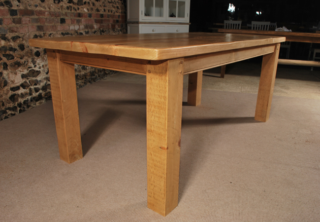 rustic solid pine table