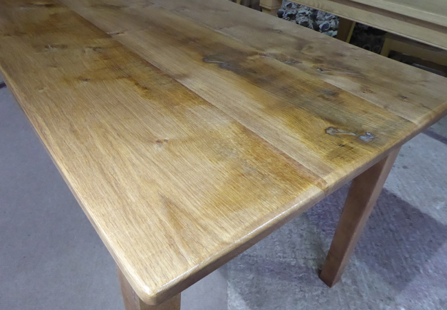 Handmade English Barn Grade Oak Table